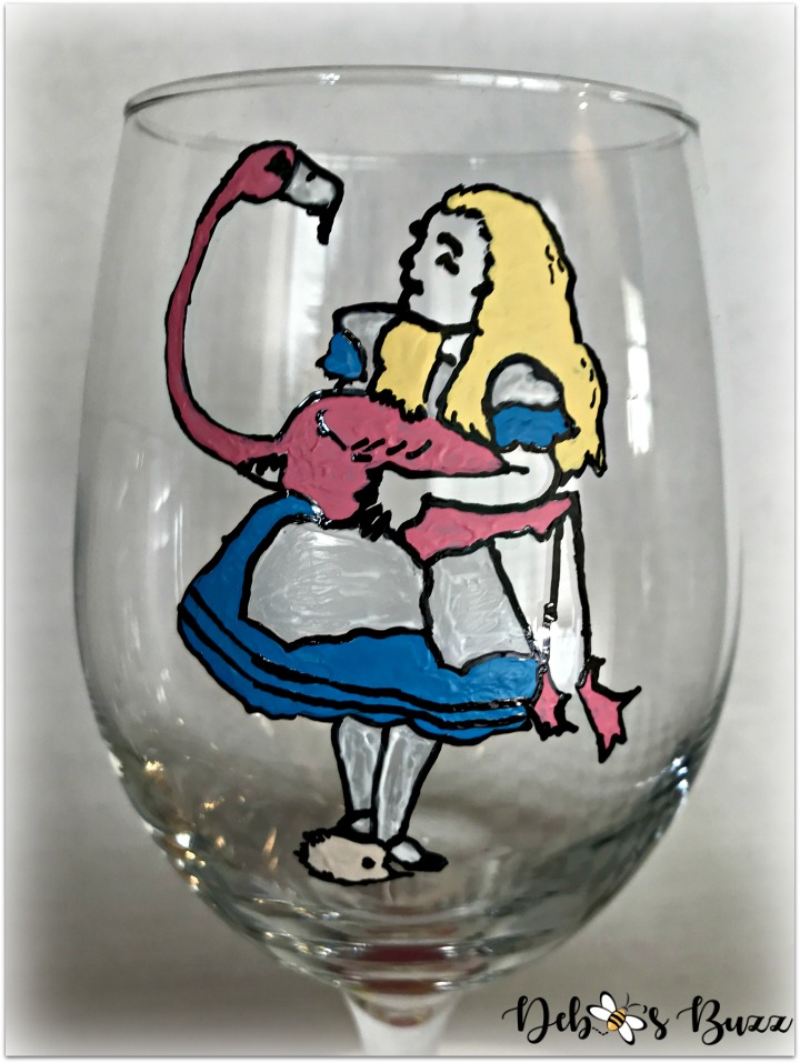 alice-wonderland-unbirthday-party-favor-painted-glasses-alice-closeup-my-favorite-things-party