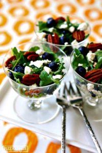 peacock-theme-menu-arugula-blueberry-salad