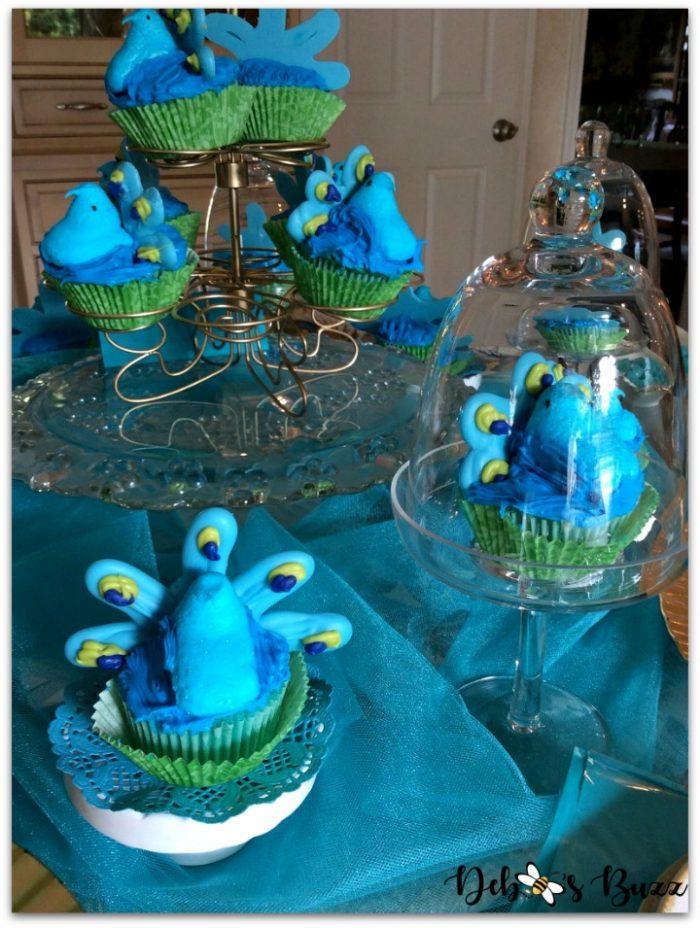 peacock-theme-menu-peacock-cupcake-tower