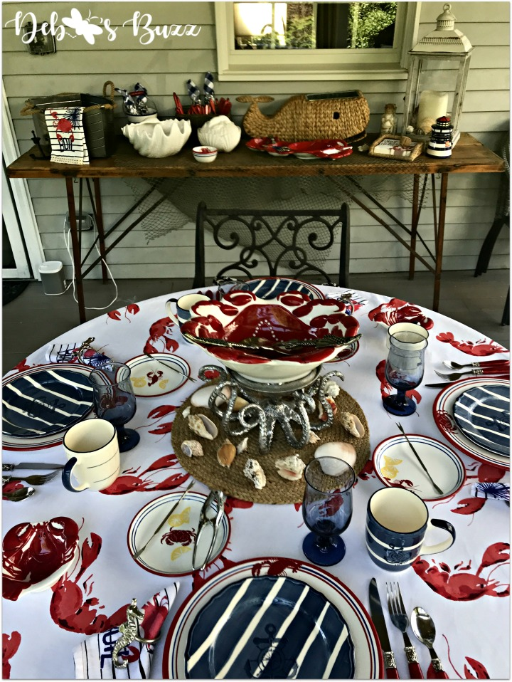 coastal-buffet-table-crab-tablescape