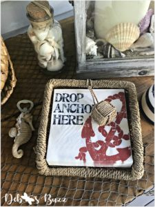 coastal-buffet-table-drop-anchor-napkins