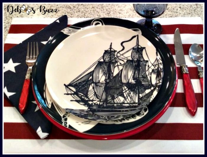 July 4th Patriots Table With Betsy Ross and Paul Revere