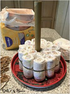 elephant-diaper-cake-first-layer-two-rounds