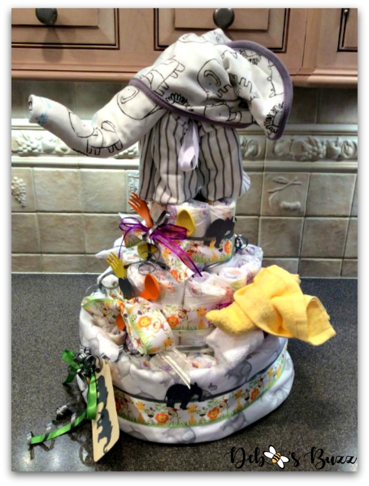 elephant-diaper-cake-one-side-view