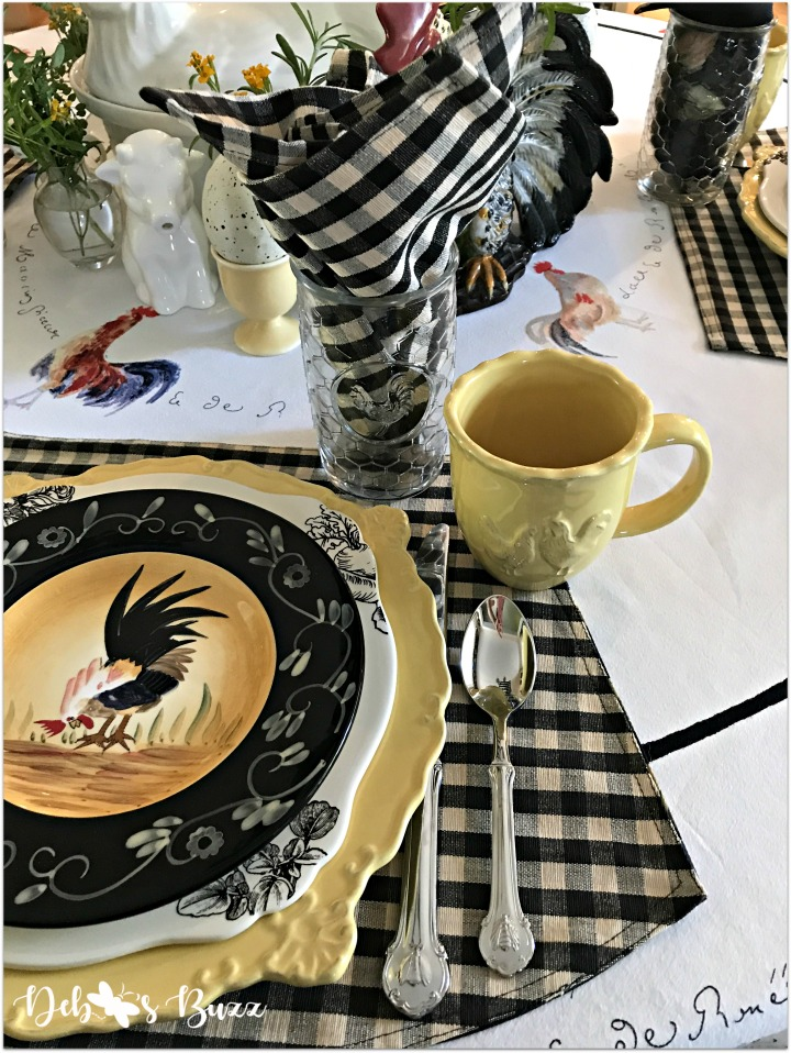 fall-farm-rooster-table-napkin