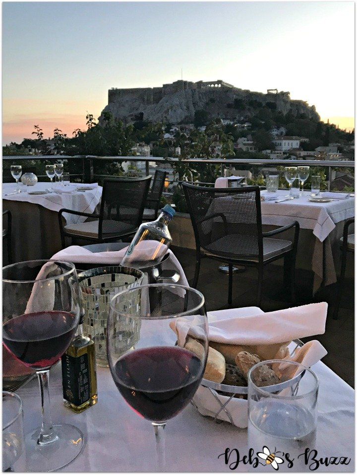Athens-Greece-day2-Electra-Palace-rooftop-restaurant-table-view