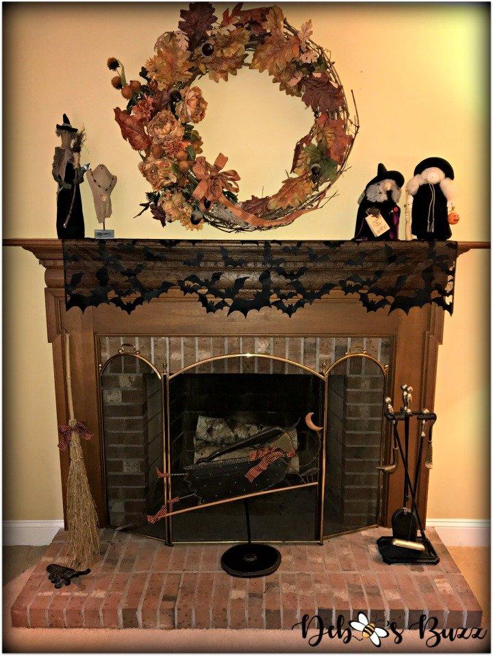 Halloween-decor-home-tour-fireplace-mantle