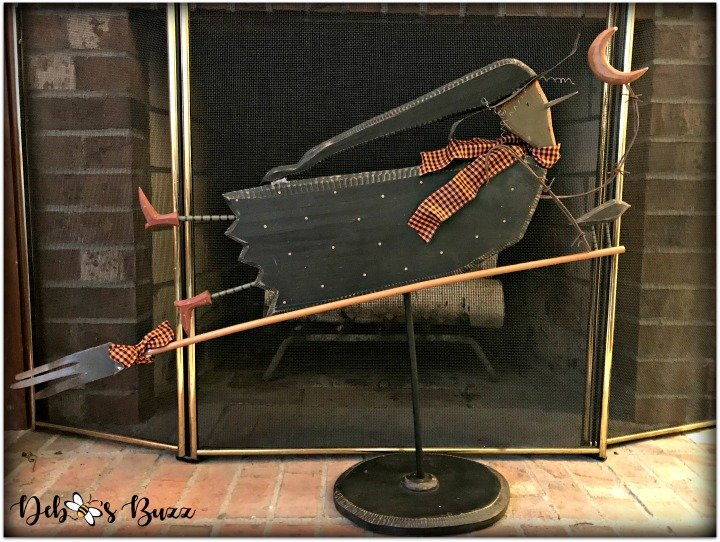Halloween-decor-home-tour-fireplace-witch