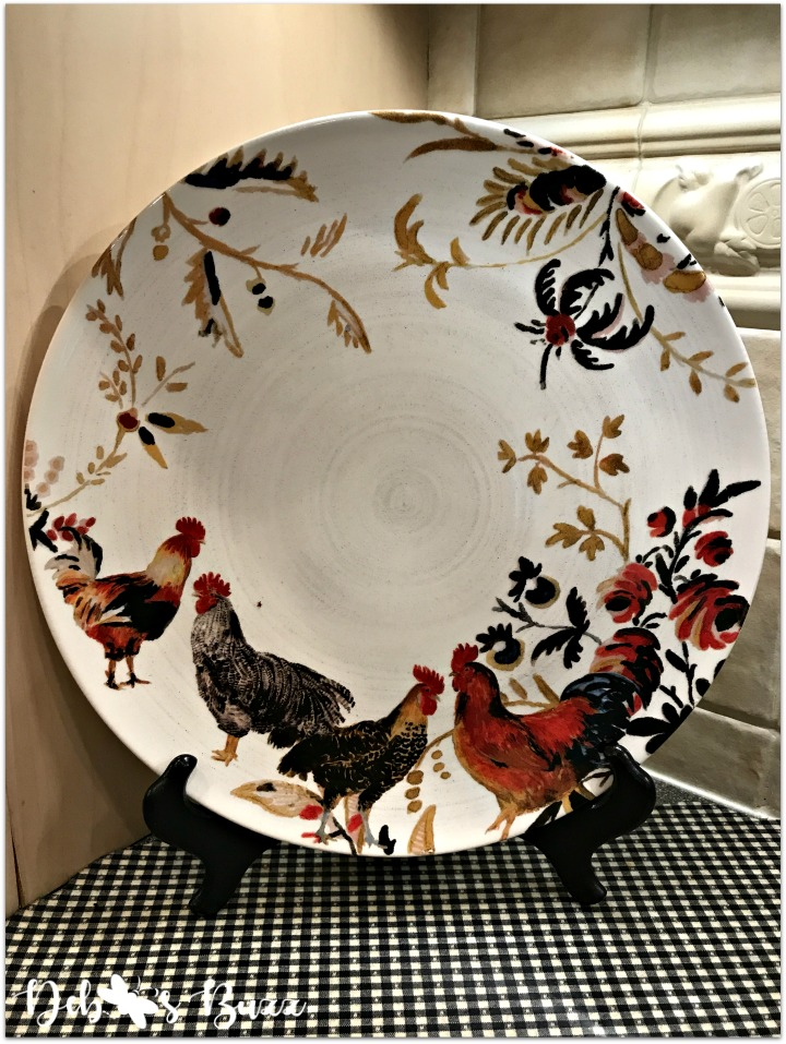 kitchen-rooster-decor-round-platter