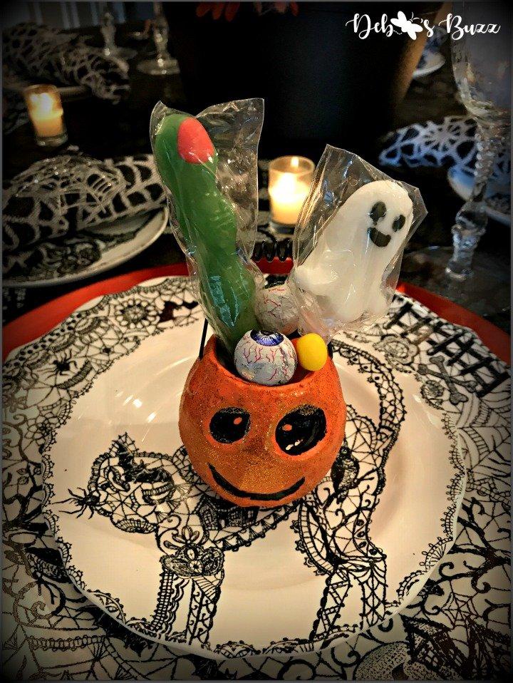 spooky-Halloween-tablescape-Wiccan-Lace-pumpkin-favor