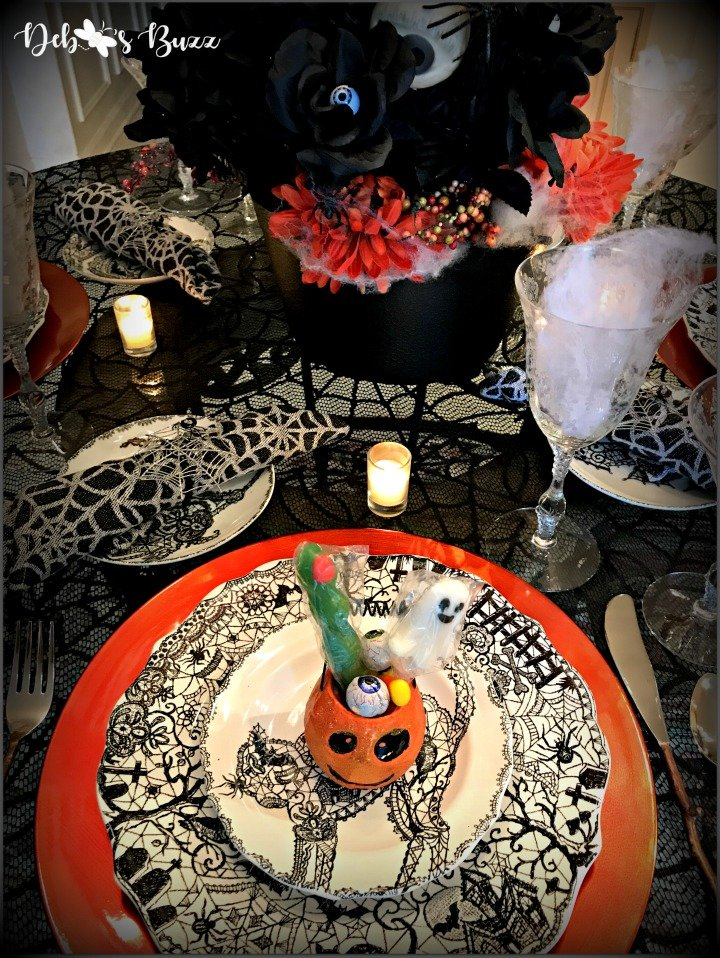 spooky-Halloween-tablescape-pumpkin-place-setting-Wiccan-Lace