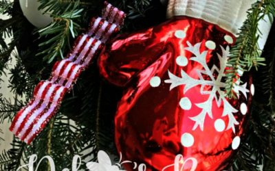 DIY Lighted Candy Cane Christmas Urns Add Whimsy