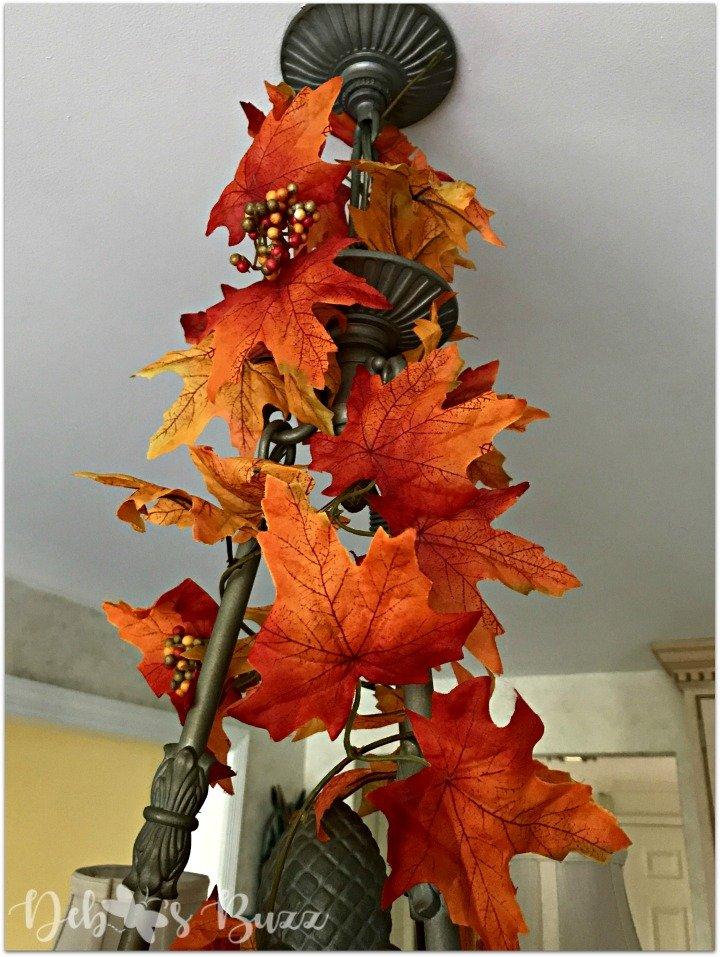 decorate-a-chandelier-fall-easy-steps-wrap-leaf-garland