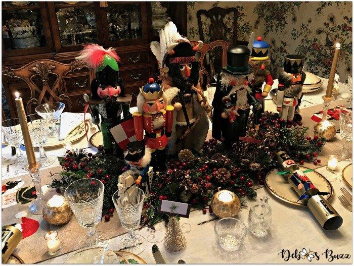 nutcracker-collection-centerpiece-Christmas-table-overhead