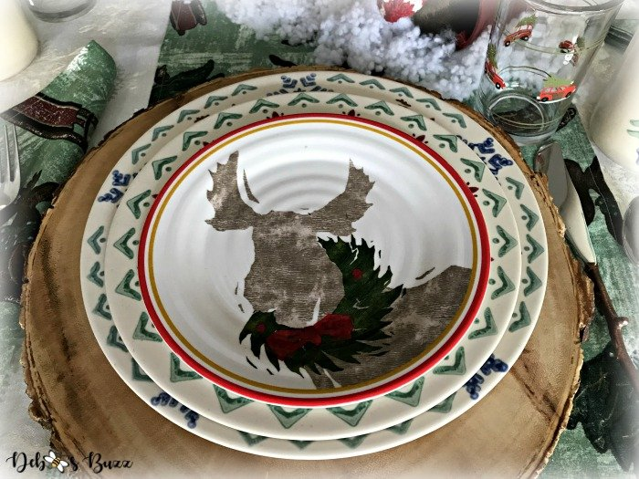 moose-centerpiece-toboggan-ride-tablescape-moose-plate