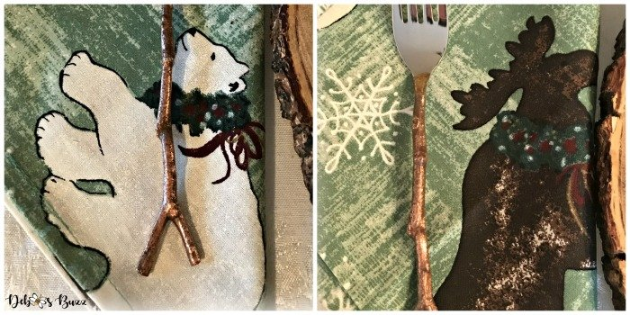 moose-centerpiece-toboggan-ride-tablescape-polar-bear-napkin