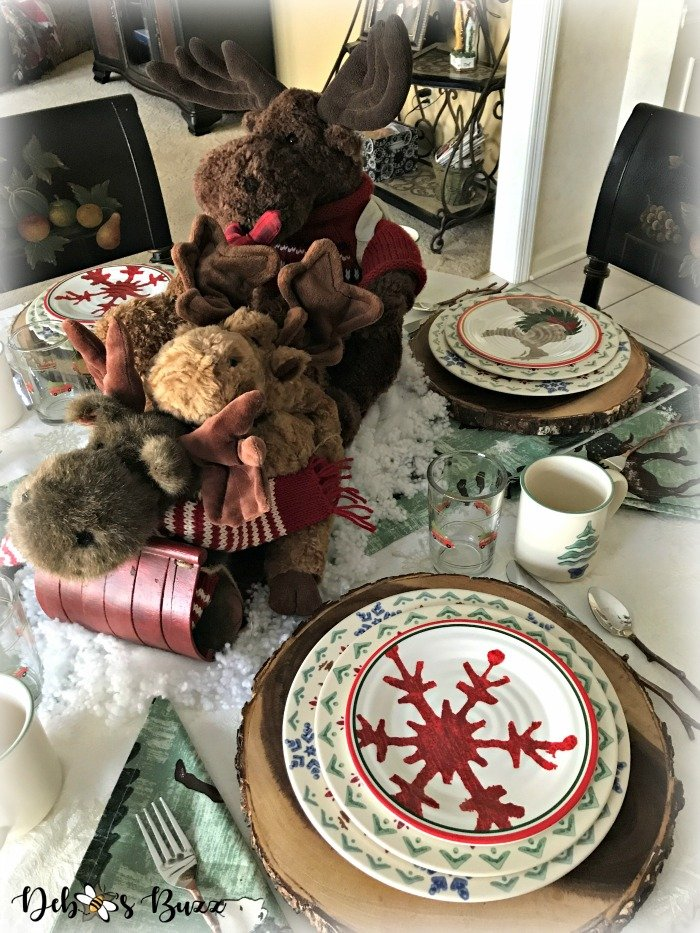 moose-centerpiece-toboggan-ride-tablescape-table