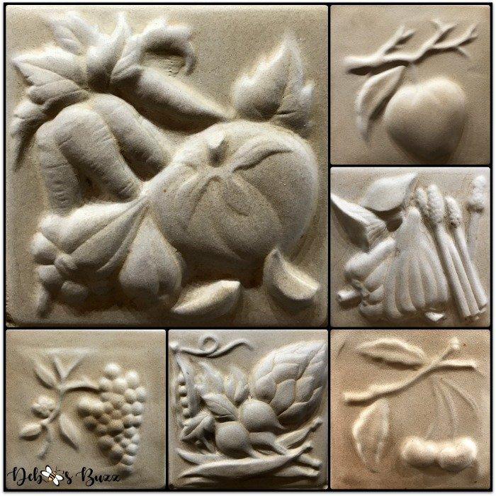 remodeled-kitchen-design-layout-organization-tour-backsplash-fruit-vegetable-relief-tiles