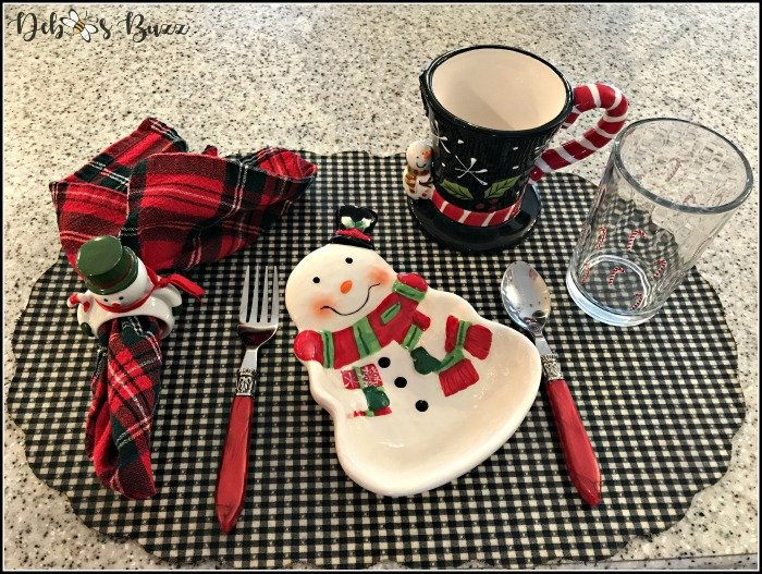 Building a Snowman Table Setting