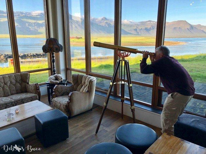 exploring-Iceland-day8-Bodir-hotel-view-telescope