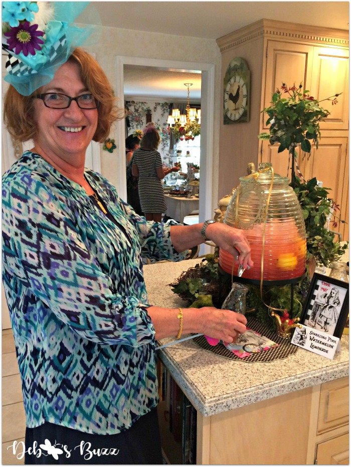 alice-in-wonderland-tea-party-menu-pink-watermelon-lemonade-dispenser