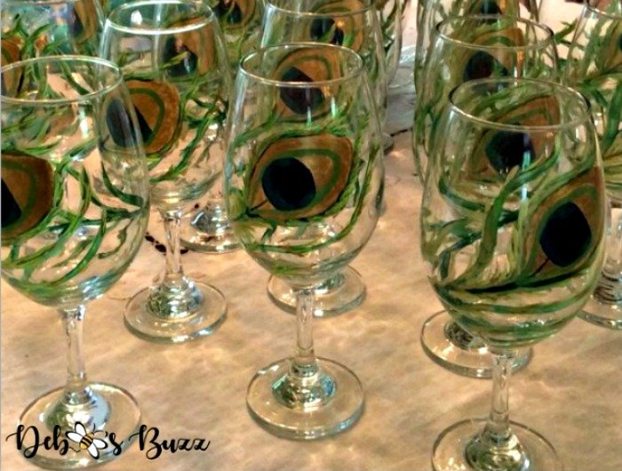 DIY Hand Painted Glasses & Champagne Flutes