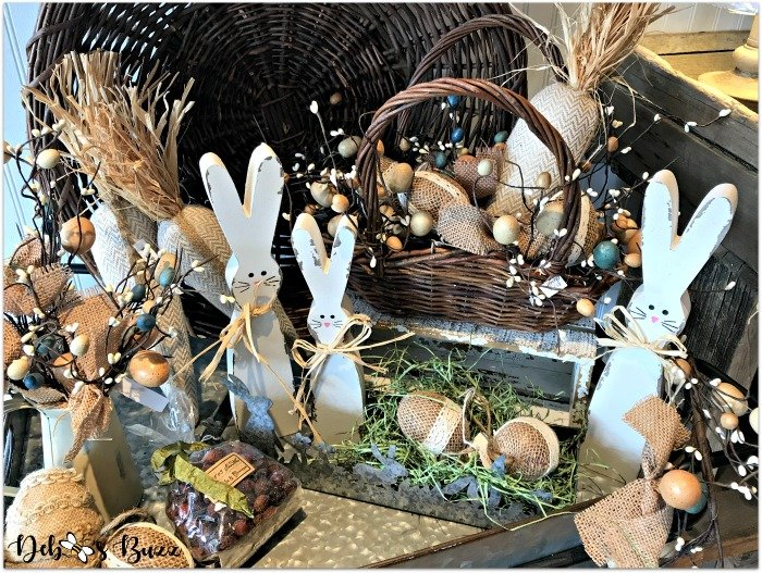 Easter-decor-old-allegheny-wooden-rabbits