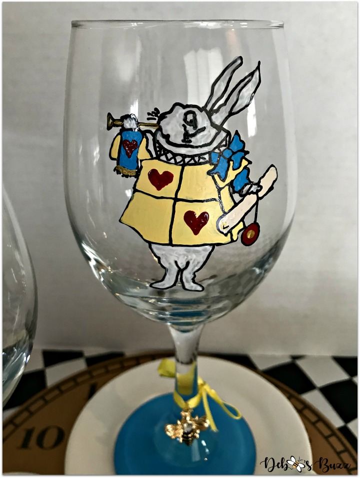 alice-in-wonderland-hand-painted-glasses-white-rabbit