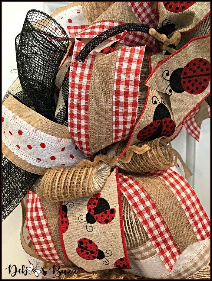 ladybug-mesh-wreath-gingham-ribbons