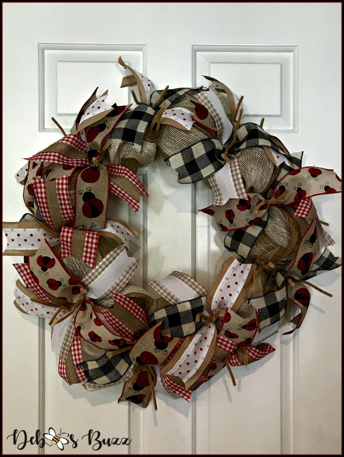 ladybug-mesh-wreath-ribbons-attached
