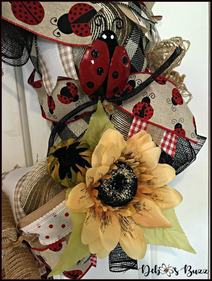 ladybug-mesh-wreath-sunflower