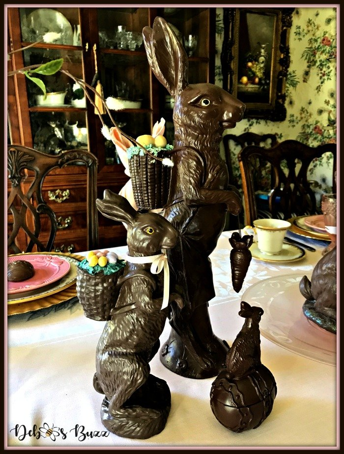 vintage-Easter-table-chocolate-rabbit-trio