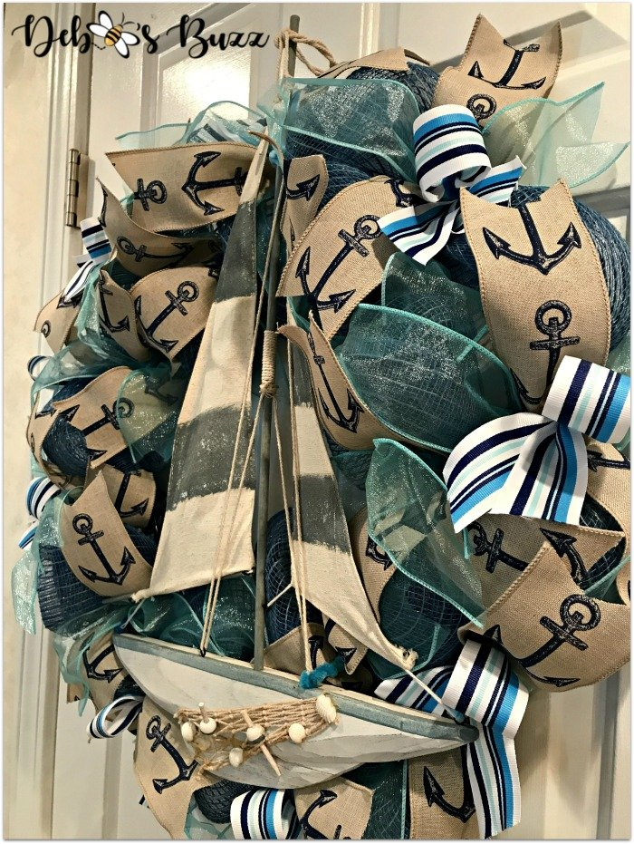 Nautical-sailboat-wreath-Etsy-debbeesbuzzboutique-front-side