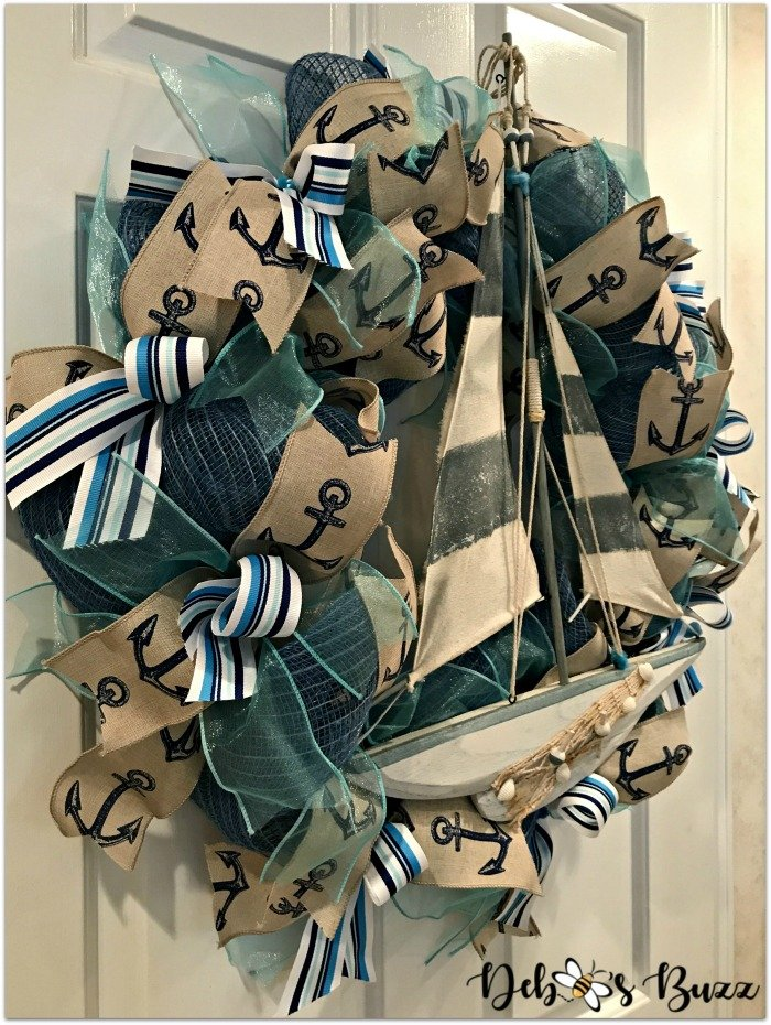 Nautical-sailboat-wreath-Etsy-debbeesbuzzboutique-side