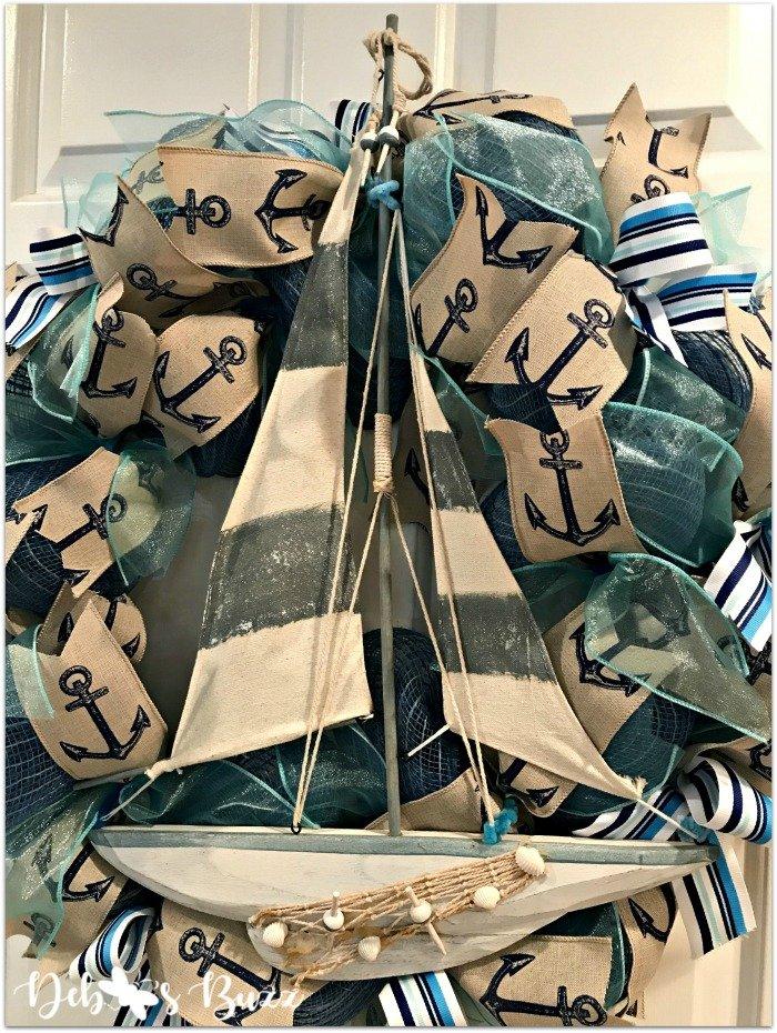 Nautical-sailboat-wreath-Etsy-debbeesbuzzboutique