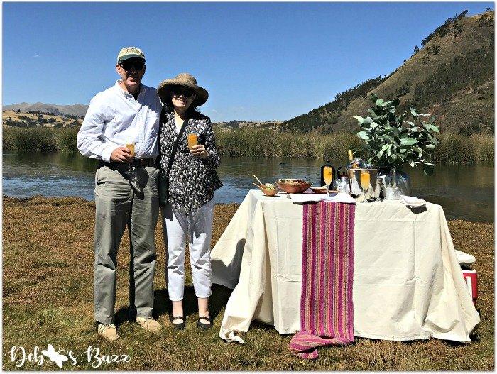 Peru-trip-Huaypo-Lagoon-champagne-toast