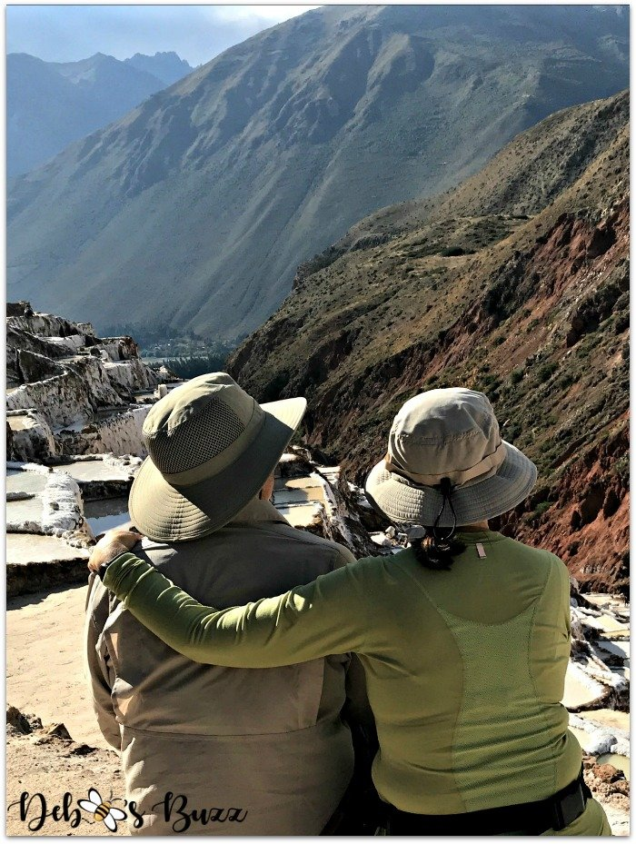 Peru-Sacred-Valley-Maras-salt-mines-enjoying-view