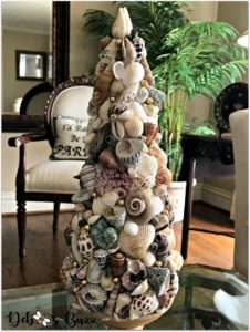 coastal-decor-tour-seashell-topiary-closeup