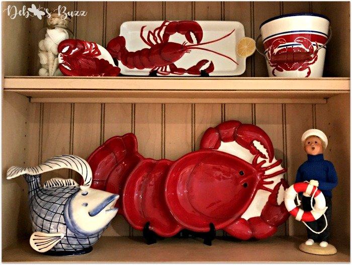 coastal-decor-kitchen-lobster-tableware-decorated-shelf