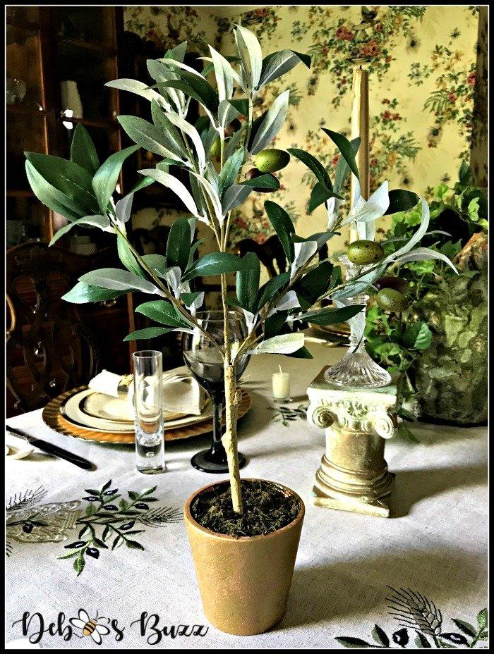 Greek-tablescape-faux-olive-tree