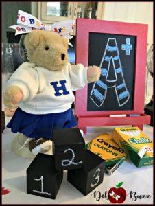 back-to-school-table-centerpiece-cheerleader-blocks-chalkboard
