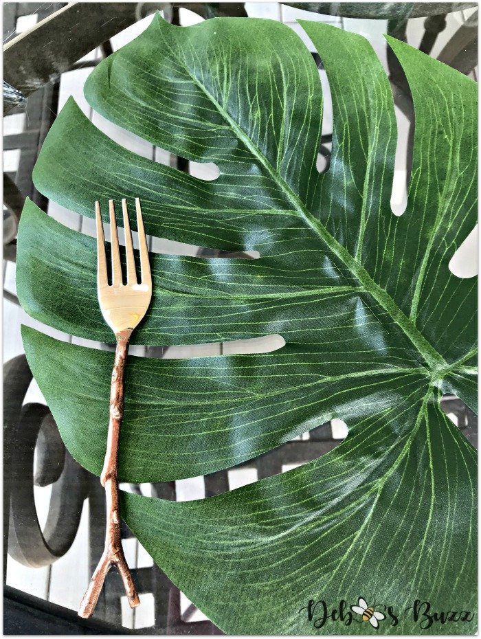 palm-leaf-placemat-copper-twig-flatware