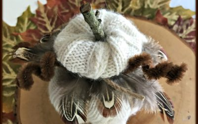 Easy to Make Fall Decor: Sweater Pumpkin