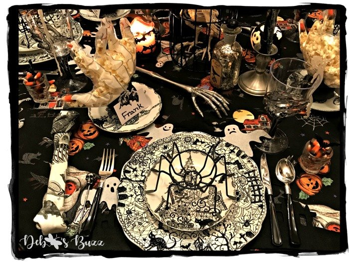 Spooktacular Skeleton at the Feast Halloween Table