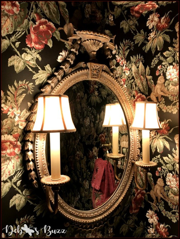 monkey-decor-powder-room-mirror-sconces