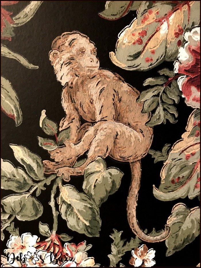 monkey-print-exotic-black-wallpaper