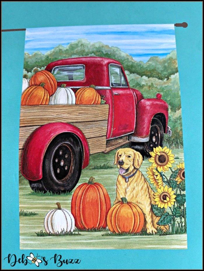 red-flatbed-truck-pumpkins-flag