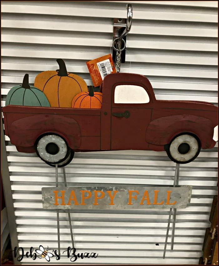 red-flatbed-truck-pumpkins-plant-stake