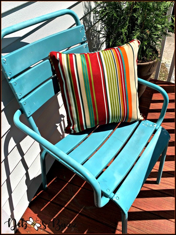 turquoise-chair-fall-stripe-pillow