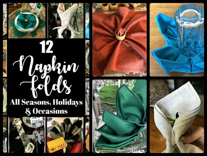 12 Napkin Folds for All Seasons, Holidays & Occasions